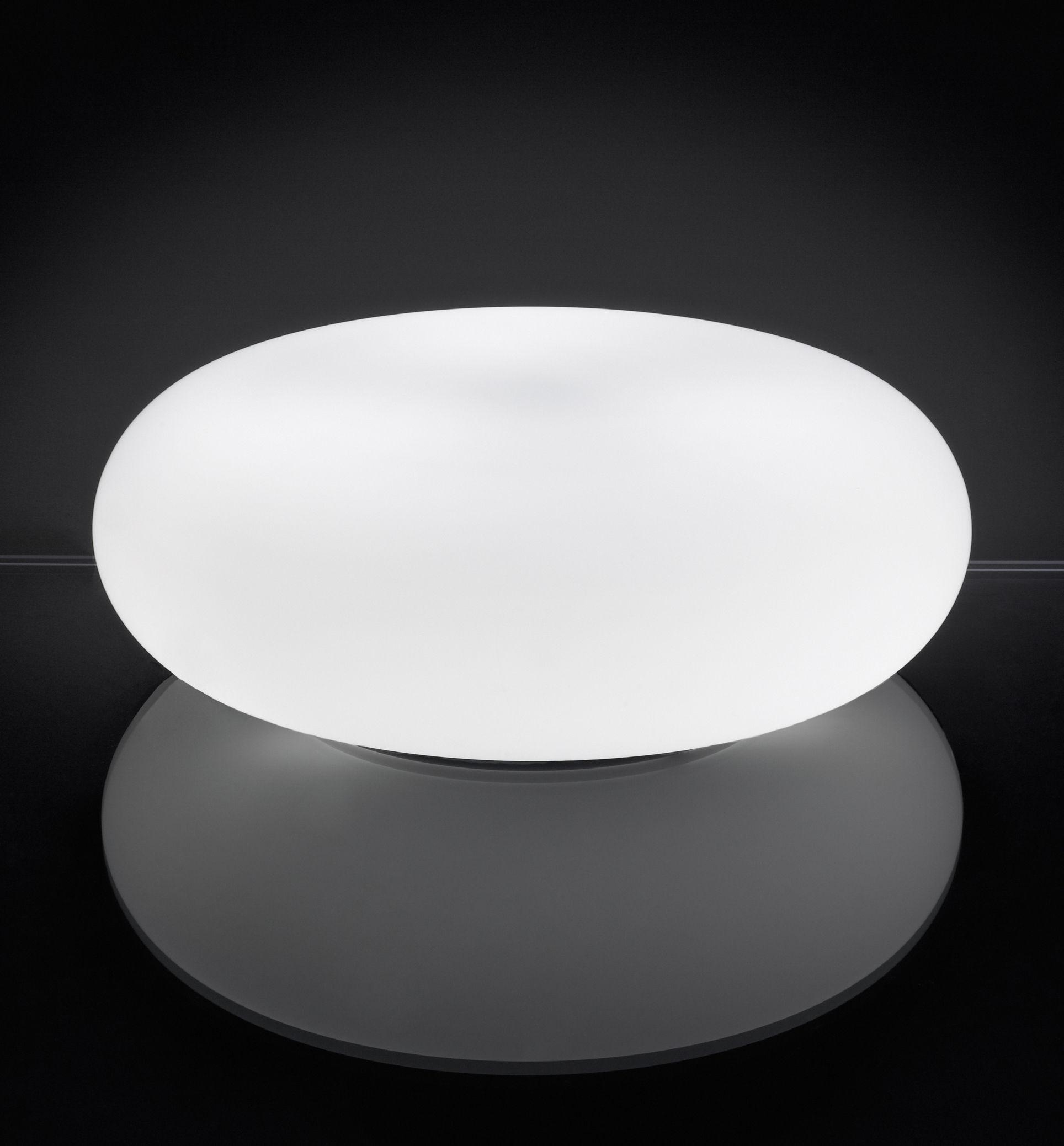 Luminaire - Lampes de table - Lampe de table Itka Ø 50 cm - Danese Light - Blanc - Ø 50 cm - Métal, Verre