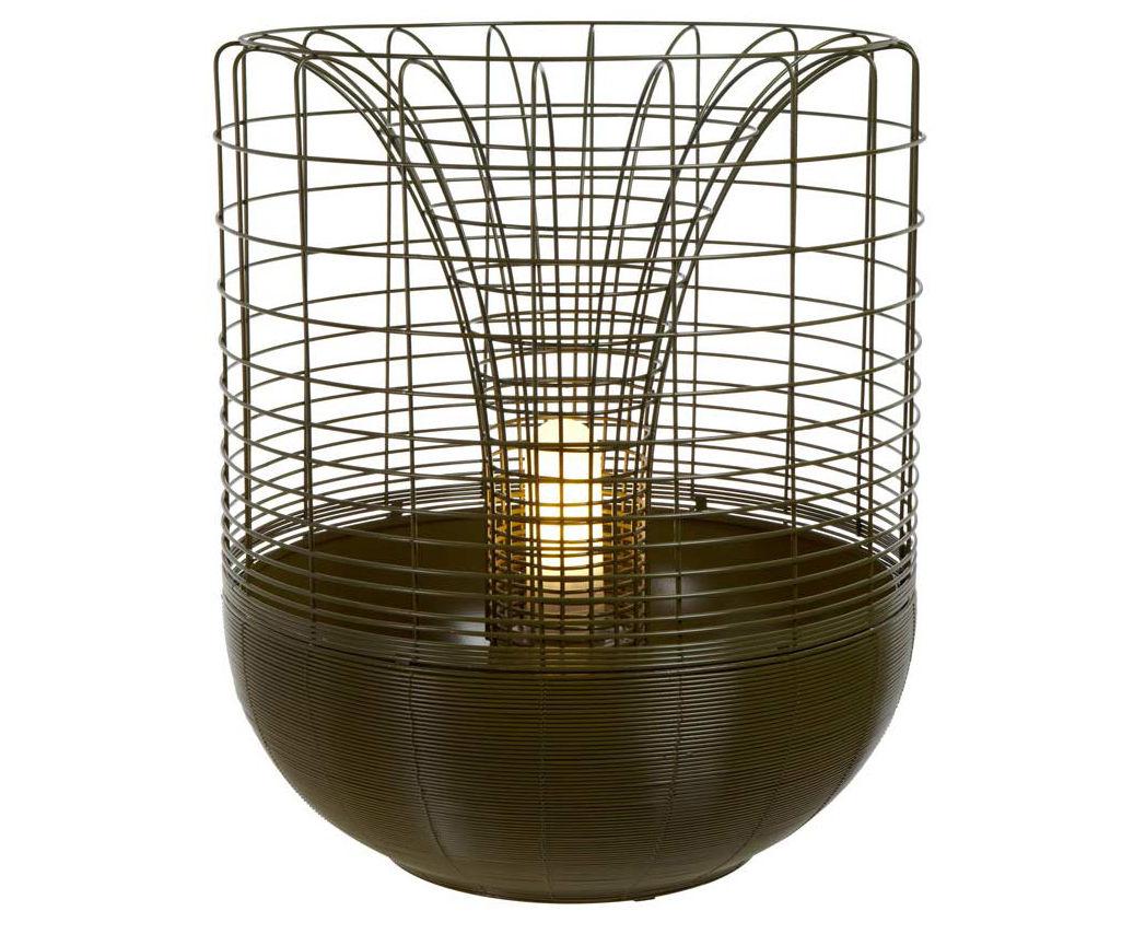 Luminaire - Lampes de table - Lampe Gloriette pour l'extérieur / Pot de fleurs - H 60 cm - Forestier - Vert - Aluminium, Fil de fer
