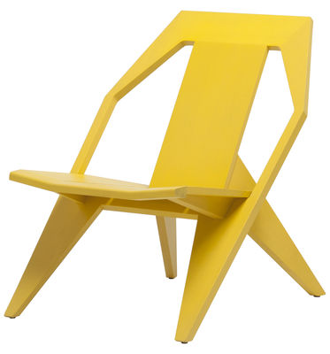 Furniture - Armchairs - Medici Low armchair by Mattiazzi - Yellow - Tinted pine