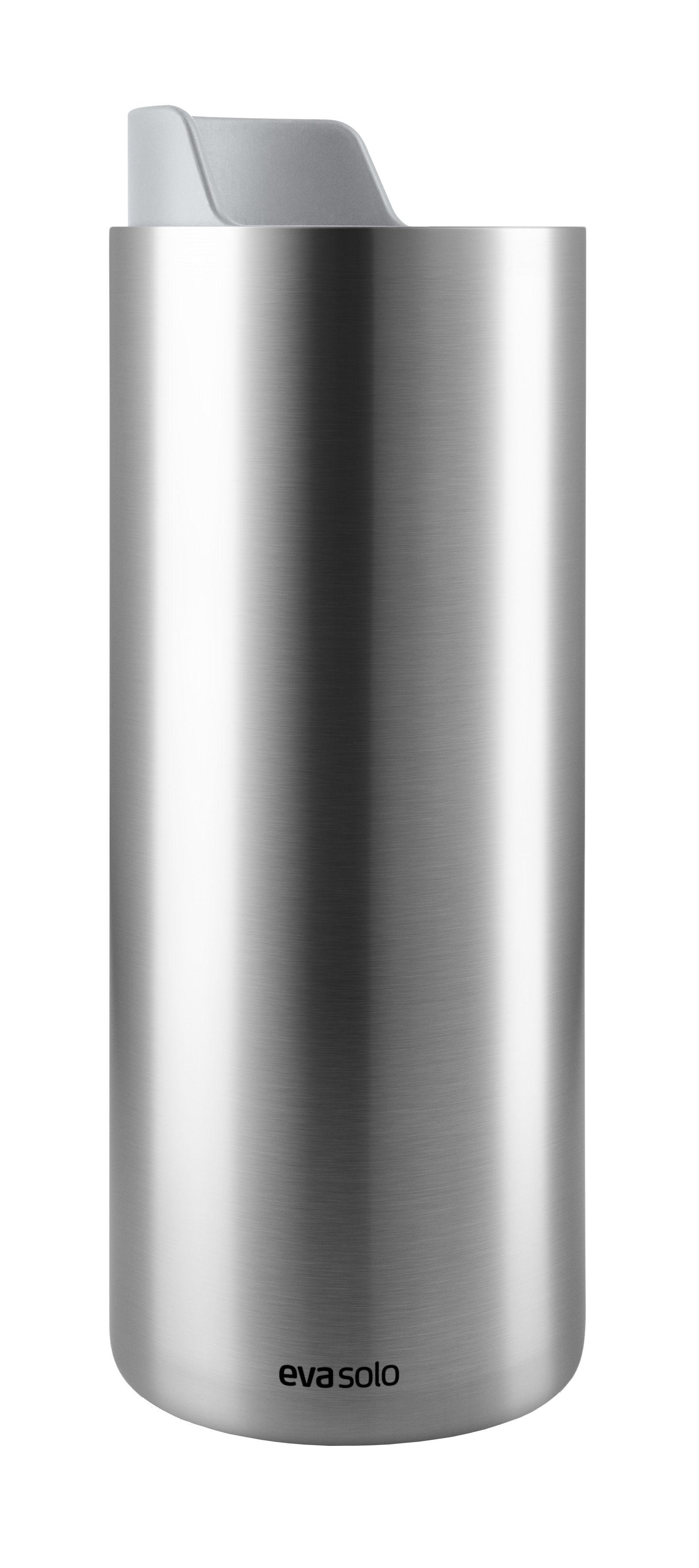 Arts de la table - Tasses et mugs - Mug isotherme To Go Cup Urban / Avec couvercle bec - 0,35 L - Eva Solo - Acier brossé / Gris marbre - Acier inoxydable, Plastique