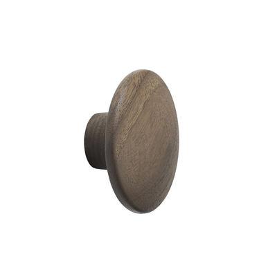 Mobilier - Portemanteaux, patères & portants - Patère The Dots Wood / XSmall - Ø  6,5 cm - Muuto - Noyer - Noyer huilé