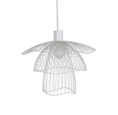 Lighting - Pendant Lighting - Papillon XS Pendant - / Ø 35 cm by Forestier - White - Powder coated steel