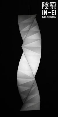 Leuchten - Pendelleuchten - IN-EI Tatsuno-Otoshigo LED Pendelleuchte / Ø 37 cm x H 151 cm - Artemide - Weiß - Recycelte PET-Faser