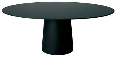Plateau de table Container / Ø 140 cm - Moooi noir en matière plastique