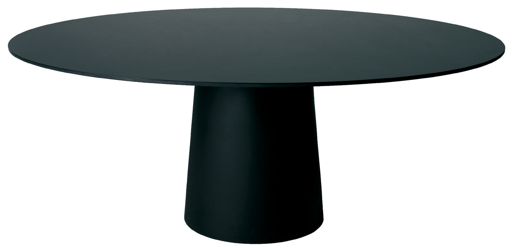 Jardin - Tables de jardin - Accessoire table / Plateau Container Ø 140 cm - Moooi - Plateau noir - Ø 140 cm - HPL