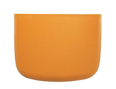 Interni - Per bambini - Portaoggetti da parete Pocket 2 - / L 13 x H 10 cm di Normann Copenhagen - Giallo arancio - Polipropilene