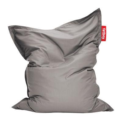 Pouf The Original Outdoor / Pour l'extérieur - Fatboy Larg. 140 cm x L 180 cm gris en tissu