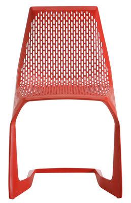Image of Sedia impilabile Myto di Plank - Rosso - Materiale plastico