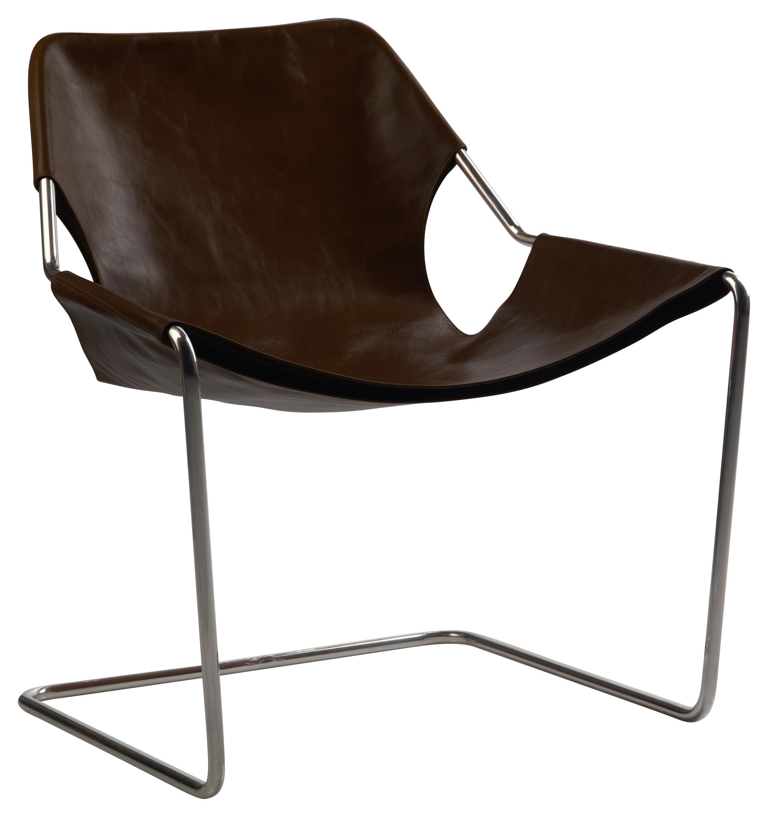 Möbel - Lounge Sessel - Paulistano Sessel Edelstahl - Objekto - Makassar - Leder