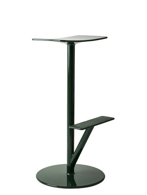 Tutti i designer - Sgabello alto Sequoia - / Metallo - H 76 cm di Magis - Verde scuro opaco - Acciaio