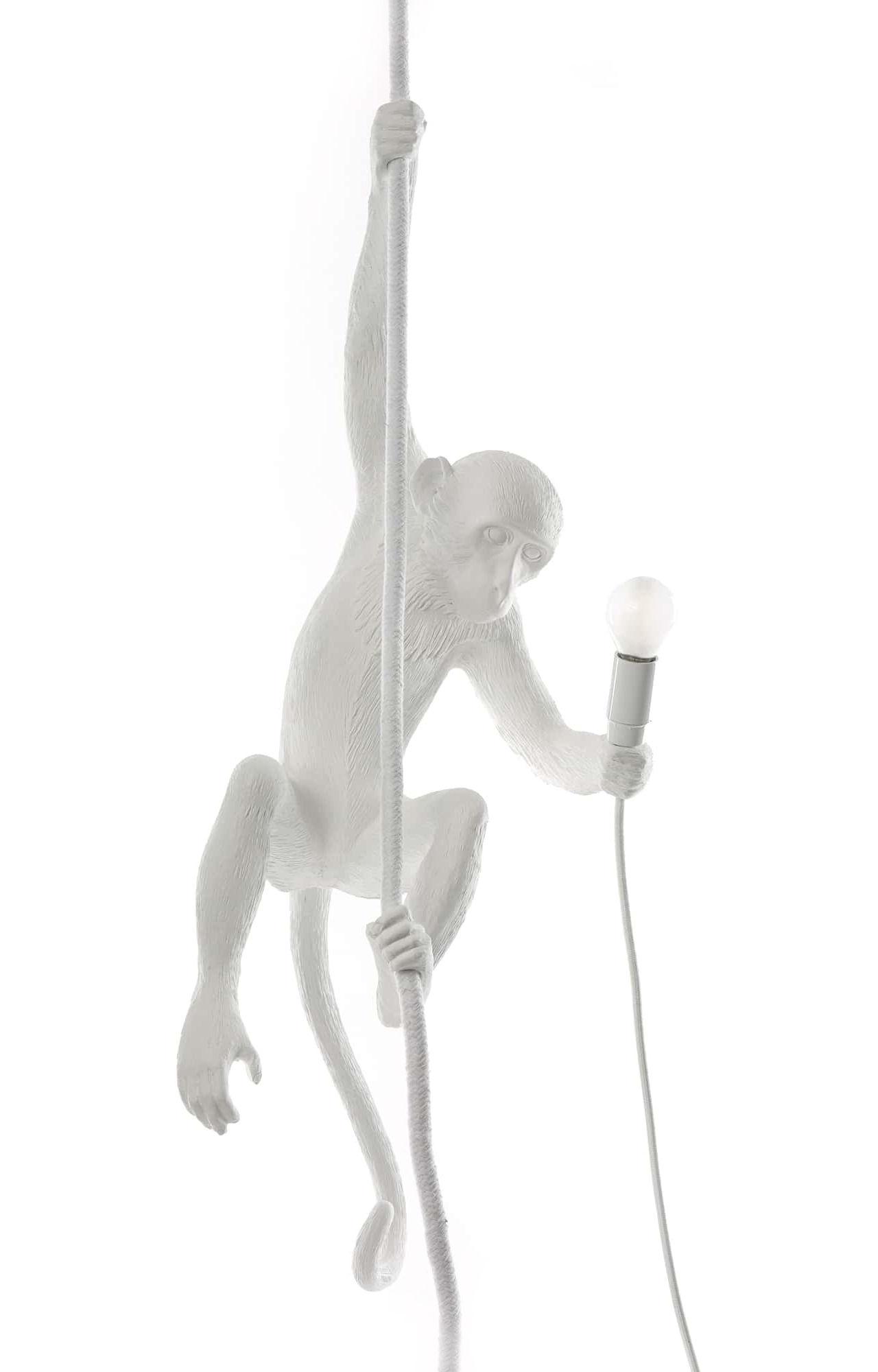 Illuminazione - Lampadari - Sospensione Monkey Hanging - / Outdoor - H 80 cm di Seletti - Bianco - Resina