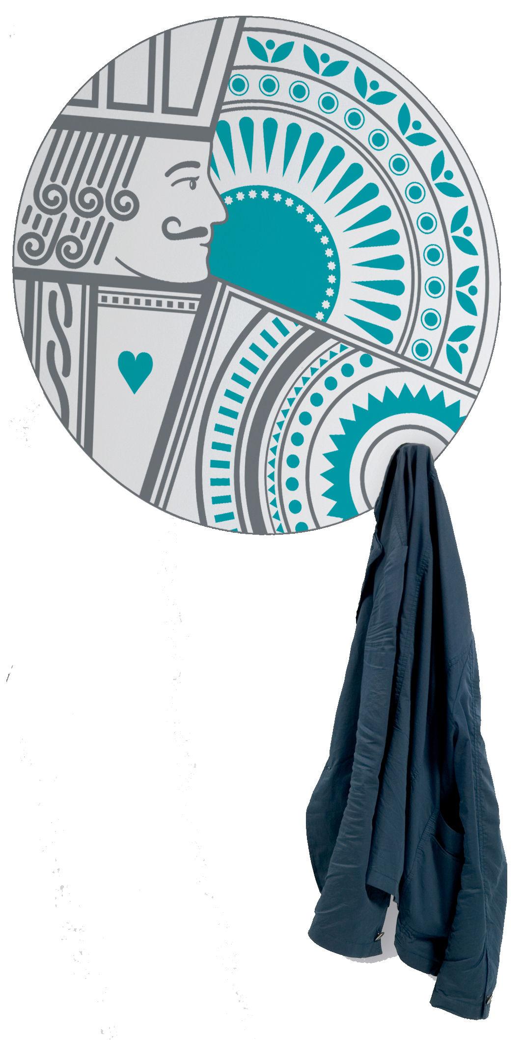 Mobilier - Portemanteaux, patères & portants - Sticker A votre service / Portemanteau - Domestic - Bleu - Vinyle