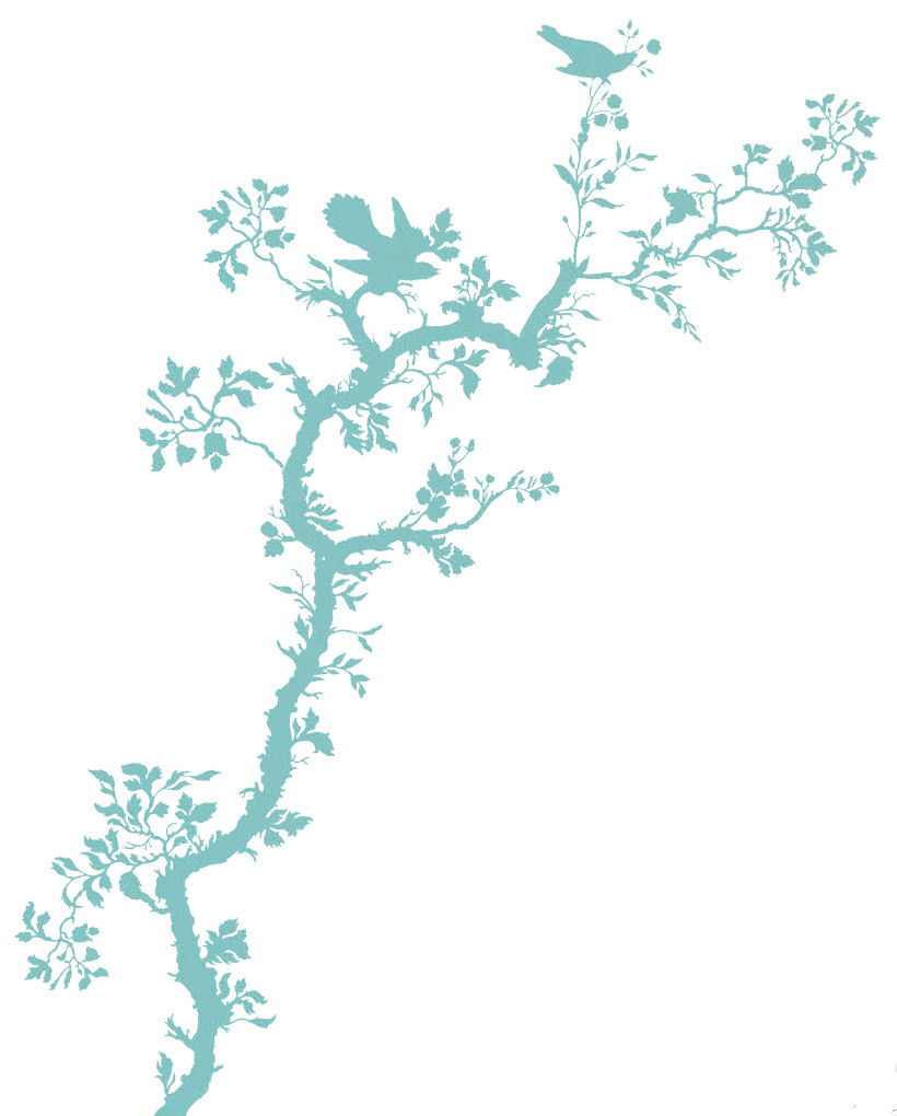 Interni - Sticker - Sticker Bird Branch di Domestic - Turchese - Vinile