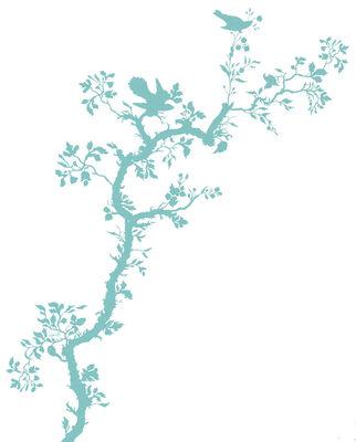 Déco - Stickers, papiers peints & posters - Sticker Bird Branch - Domestic - Turquoise - Vinyle