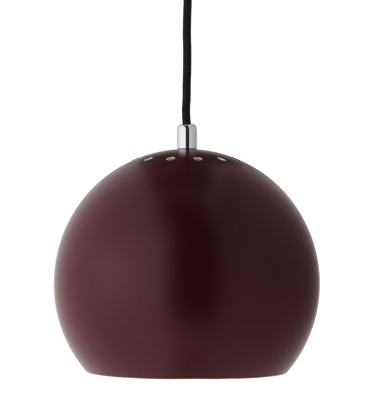 Luminaire - Suspensions - Suspension Ball Small / Ø 18 cm - Réédition 1968 - Frandsen - Bordeaux mat - Métal peint