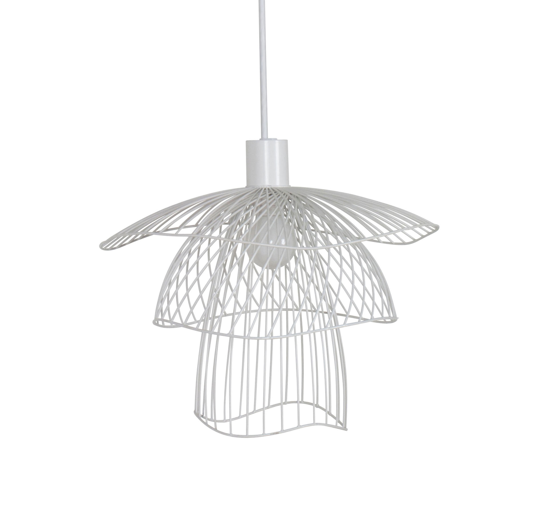 Luminaire - Suspensions - Suspension Papillon XS / Ø 30 cm - Forestier - Blanc - Acier thermolaqué