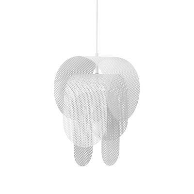 Suspension Superpose / Acier perforé - Ø 30 x H 53 cm - Normann Copenhagen blanc en métal