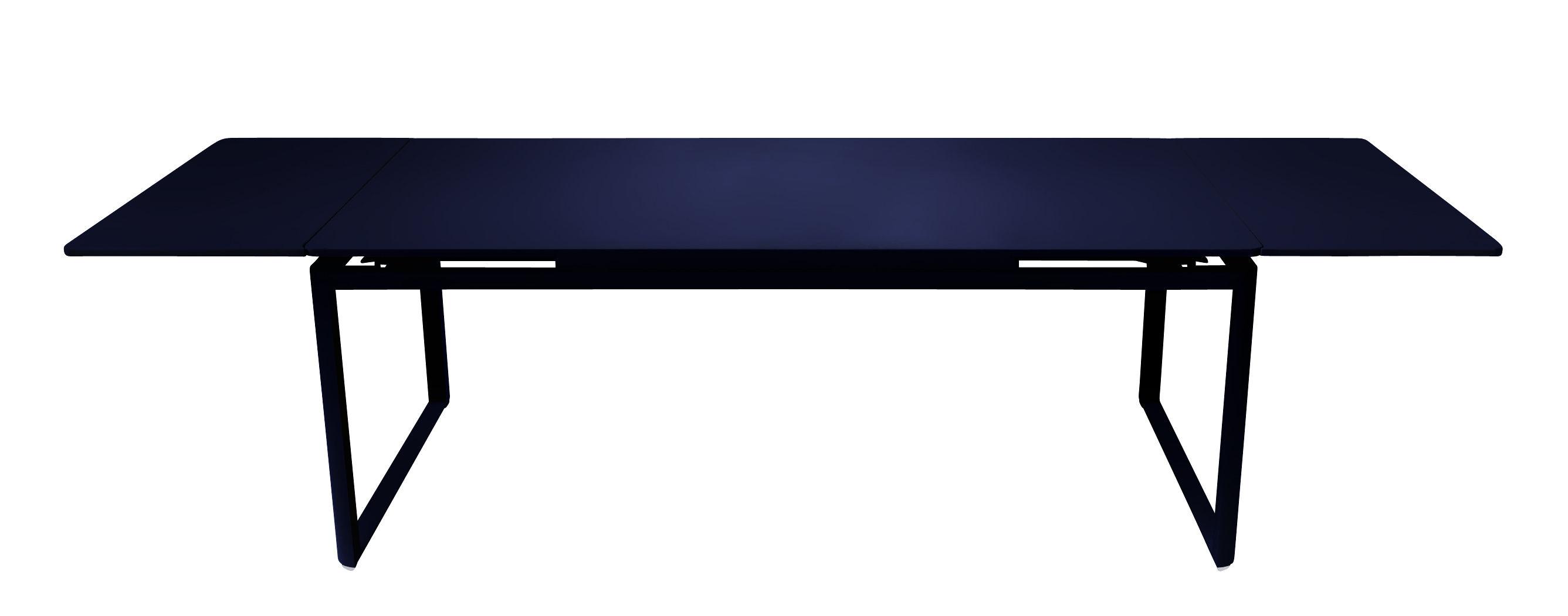 Outdoor - Tables de jardin - Table à rallonge Biarritz / L 200 à 300 cm - Fermob - Bleu abysse - Acier laqué, Aluminium laqué