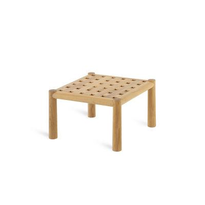 Mobilier - Tables basses - Table basse Pevero / 50 x 50 cm - Teck - Unopiu - 50 x 50 cm / Teck - Teck