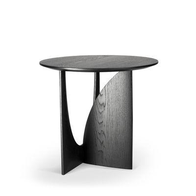Table d'appoint Geometric / Chêne massif - Ø 51 cm - Ethnicraft noir en bois