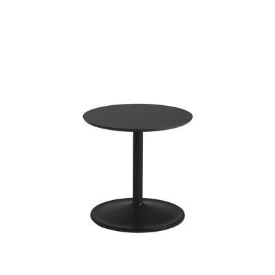Mobilier - Tables basses - Table d'appoint Soft / Ø 41 x H 40 cm - Stratifié - Muuto - Noir - Aluminium peint, MDF, Stratifié