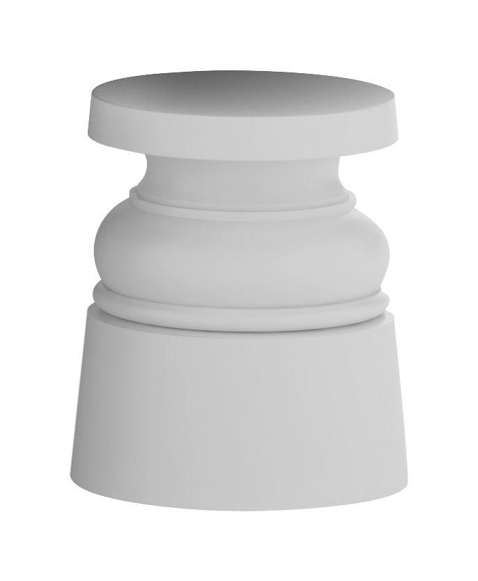 Mobilier - Tabourets bas - Tabouret Container New Antique / H 44 cm - Plastique - Moooi - Gris - Acier inoxydable, Polyéthylène