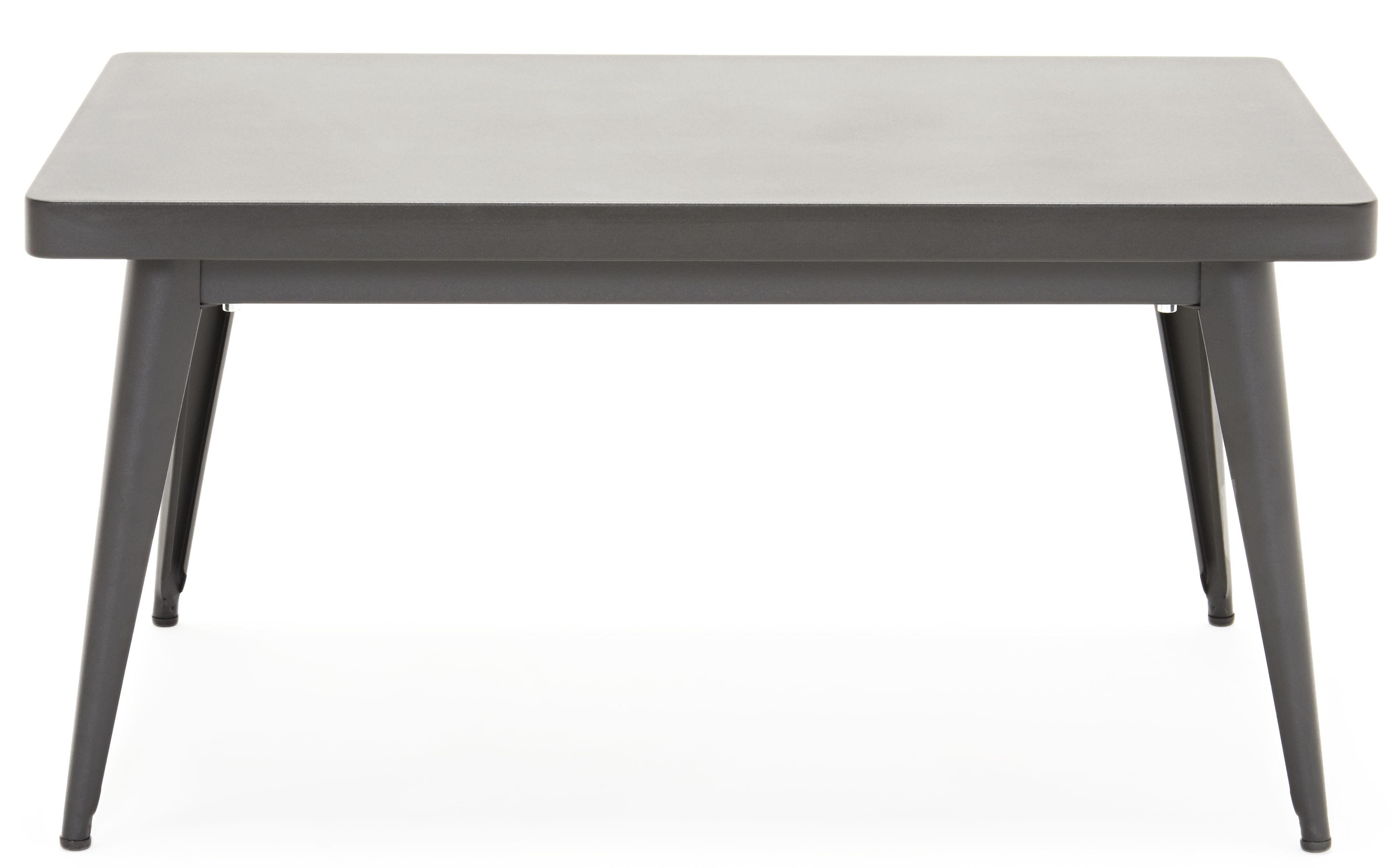 Arredamento - Tavolini  - Tavolino 55 - / 90 x 55 cm di Tolix - Nero - Acciaio riciclato laccato
