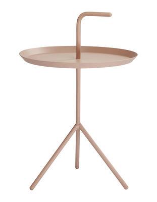 Arredamento - Tavolini  - Tavolino Don't leave Me - / Ø 38 x H 44 cm di Hay - Polvere - Acciaio laccato