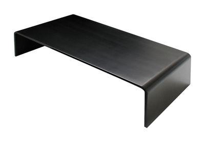 Arredamento - Tavolini  - Tavolino Solitaire Basso - 130 x 65 x H 32 cm di Zeus - 130 x 65 cm - Nero - Acciaio fosfatato