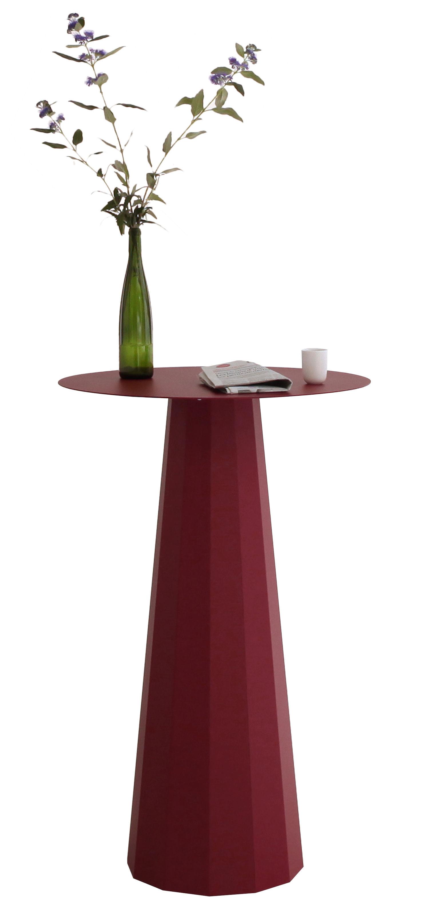 Arredamento - Tavoli alti - Tavolo bar alto Ankara - / Ø 70  x H 110 cm di Matière Grise - Rosso porpora - Acciaio