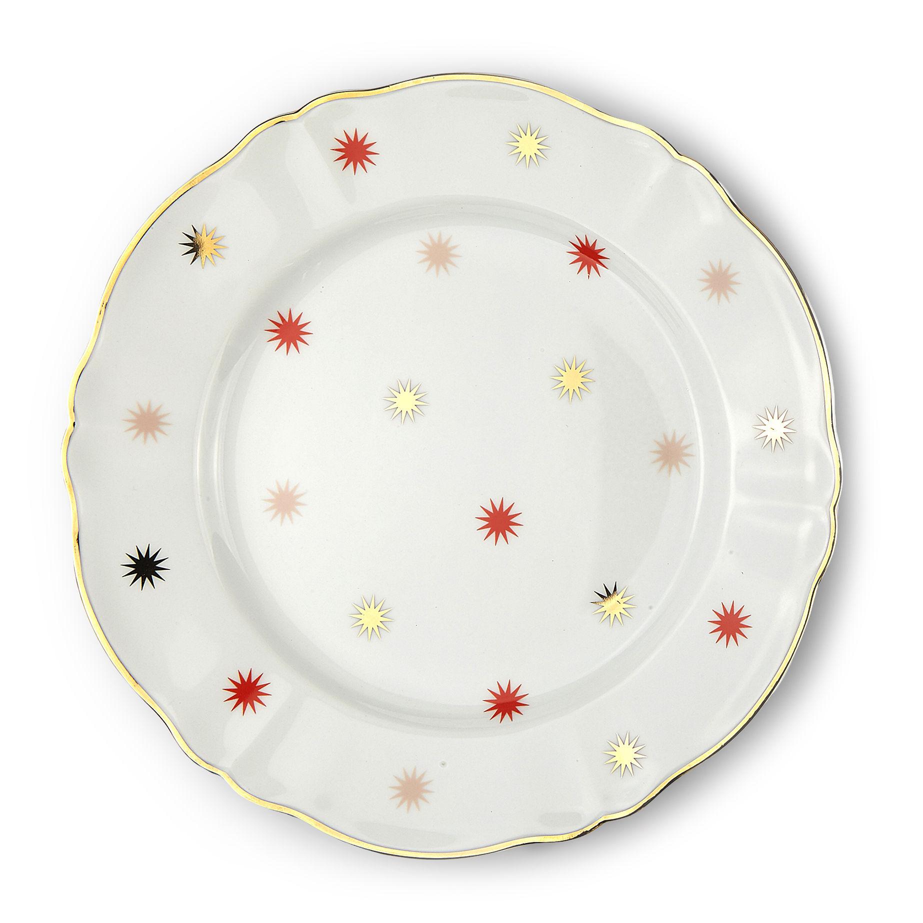 Tischkultur - Teller - Volta Teller / Ø 26,5 cm - Bitossi Home - Stern - Porzellan