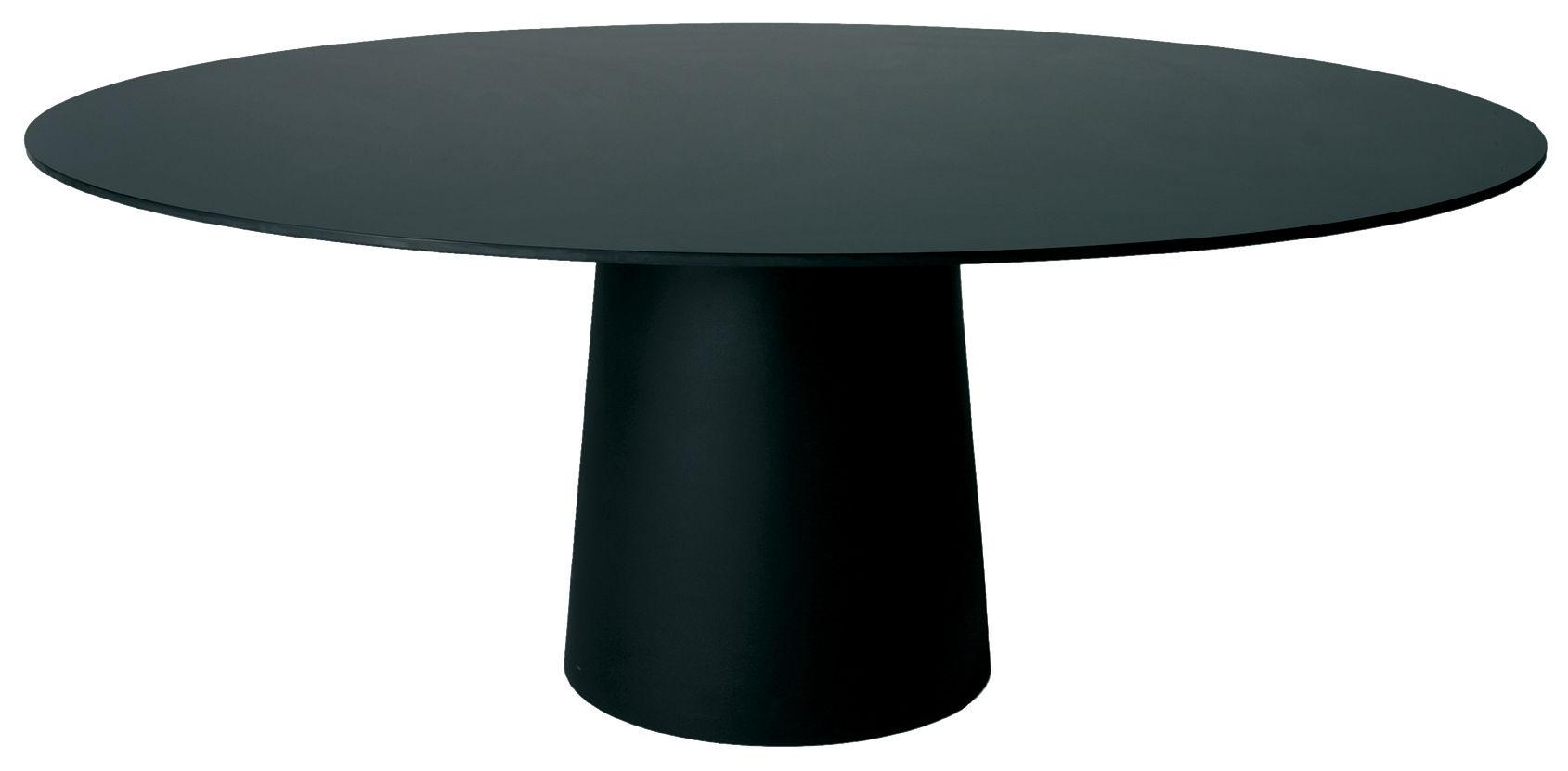 Outdoor - Tische - Container Tischtablett / Ø 140 cm - Moooi - Tischplatte schwarz - Ø 140 cm - HPL