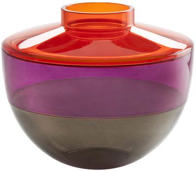 Dekoration - Vasen - Shibuya Vase / Servierschüssel - Kartell - Orange / Rot / Grau - PMMA