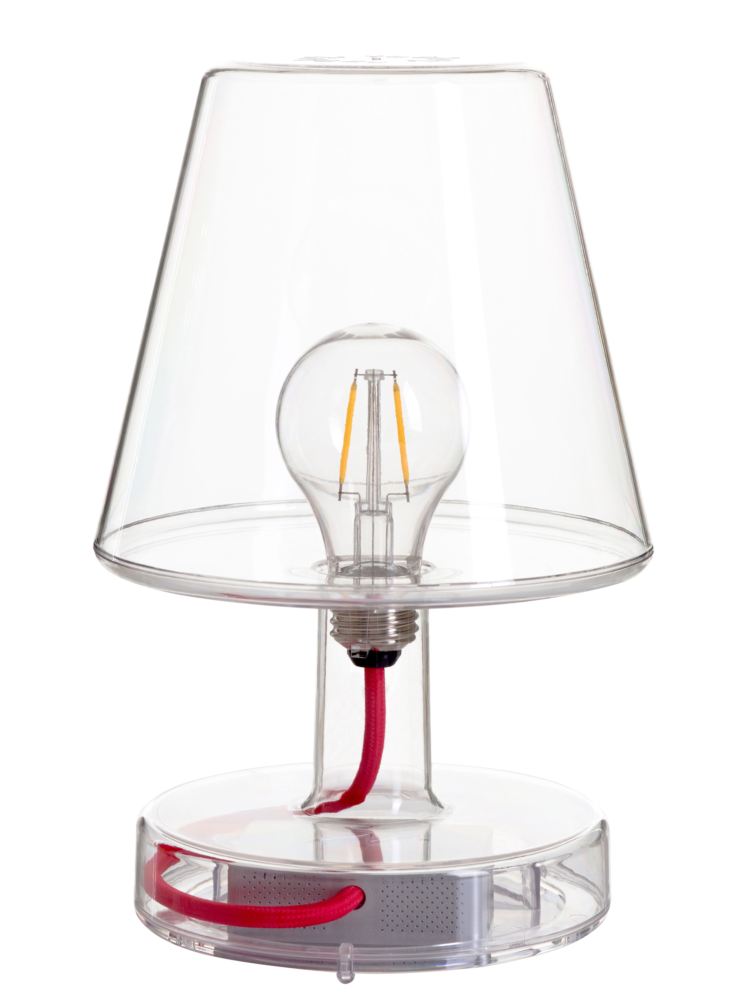 Lighting - Table Lamps - Transloetje Wireless lamp - / LED - Ø 16 x H 25 cm by Fatboy - Transparent - Polycarbonate