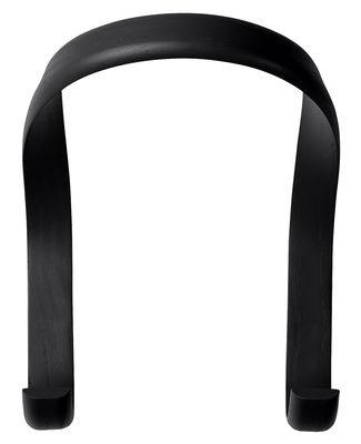 Arredamento - Appendiabiti  - Gancio Hook / 2 ganci - L 21 x H 26 cm - Hay - Nero - Frassino tinto