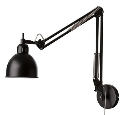 Applique avec prise Job / 2 bras articulés - L 78 cm - Frandsen noir mat en métal