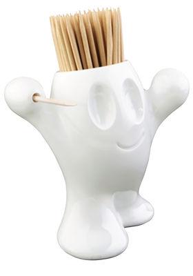 Küche - La cuisine s'amuse - Pic'Nix Behälter für Zahnstocher - Koziol - Weiß - Styropor