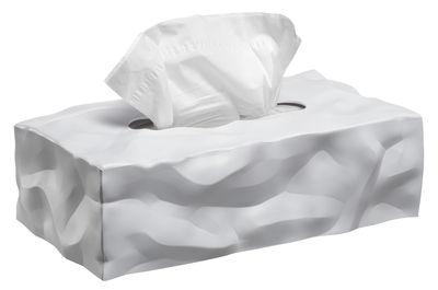 Boîte à mouchoirs Wipy / Rectangulaire - Essey blanc en matière plastique