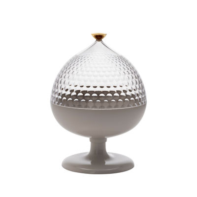 Kitchenware - Sugar Bowls, Milk Pots & Creamers - Pumo Centrepiece - / Sugar bowl - Ø 21 x H 29 cm by Kartell - White / Transparent - Technopolymer