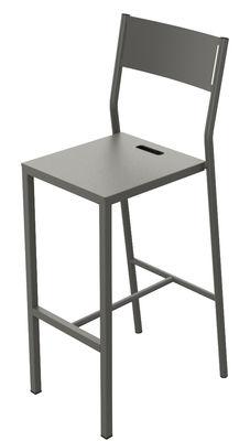 Chaise de bar Up / H 75 cm - Métal - Matière Grise taupe en métal