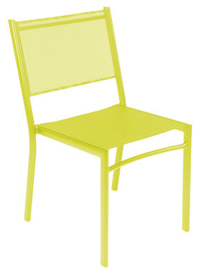 Chaise empilable Costa / Assise toile - Fermob verveine en tissu