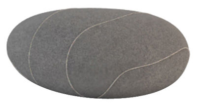 Coussin Xavier Livingstones / Laine - 50 x 40 cm - Smarin gris en tissu