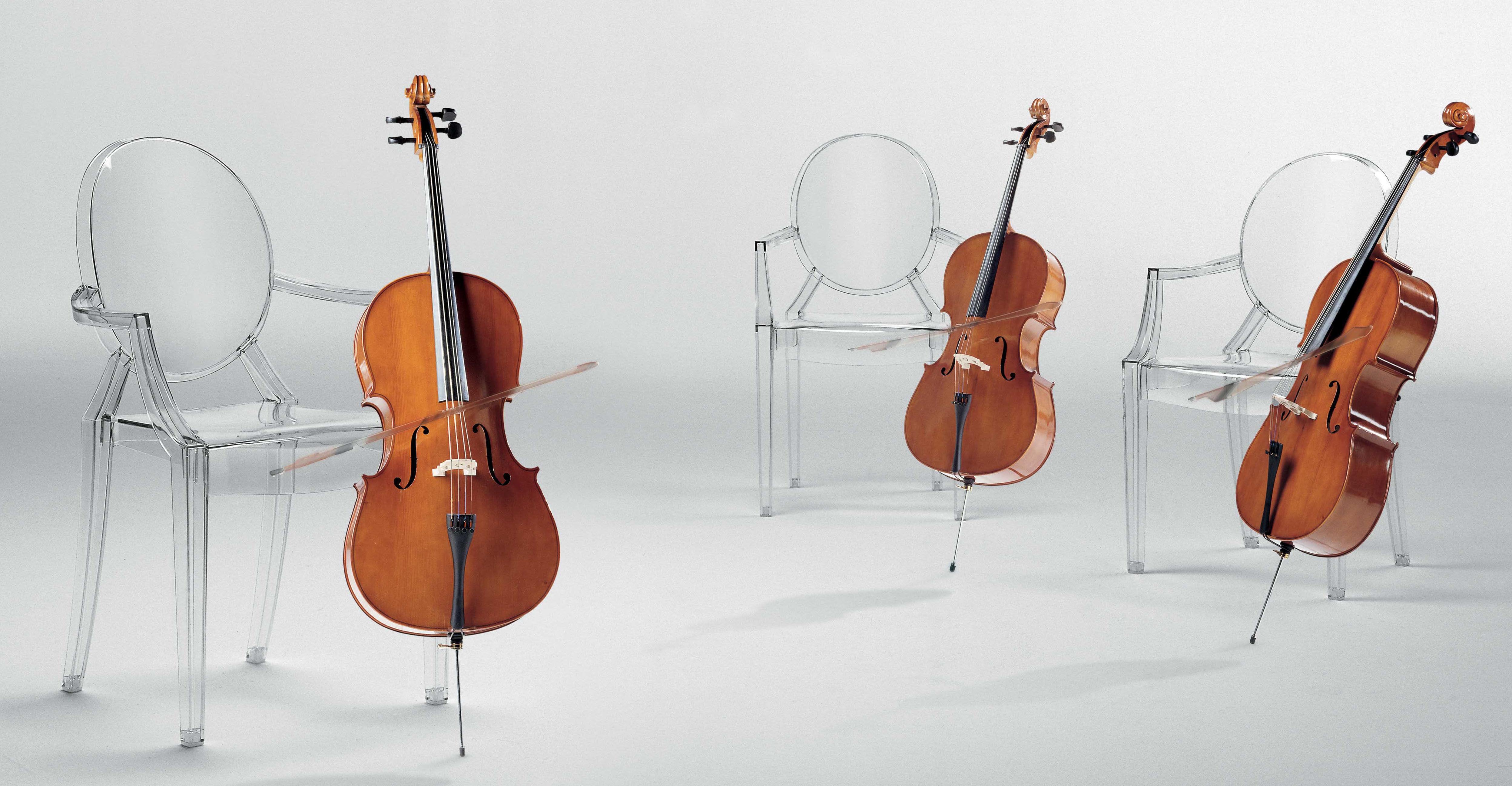 Fauteuil Louis Ghost De Philippe Starck fauteuil empilable louis ghost transparent / polycarbonate