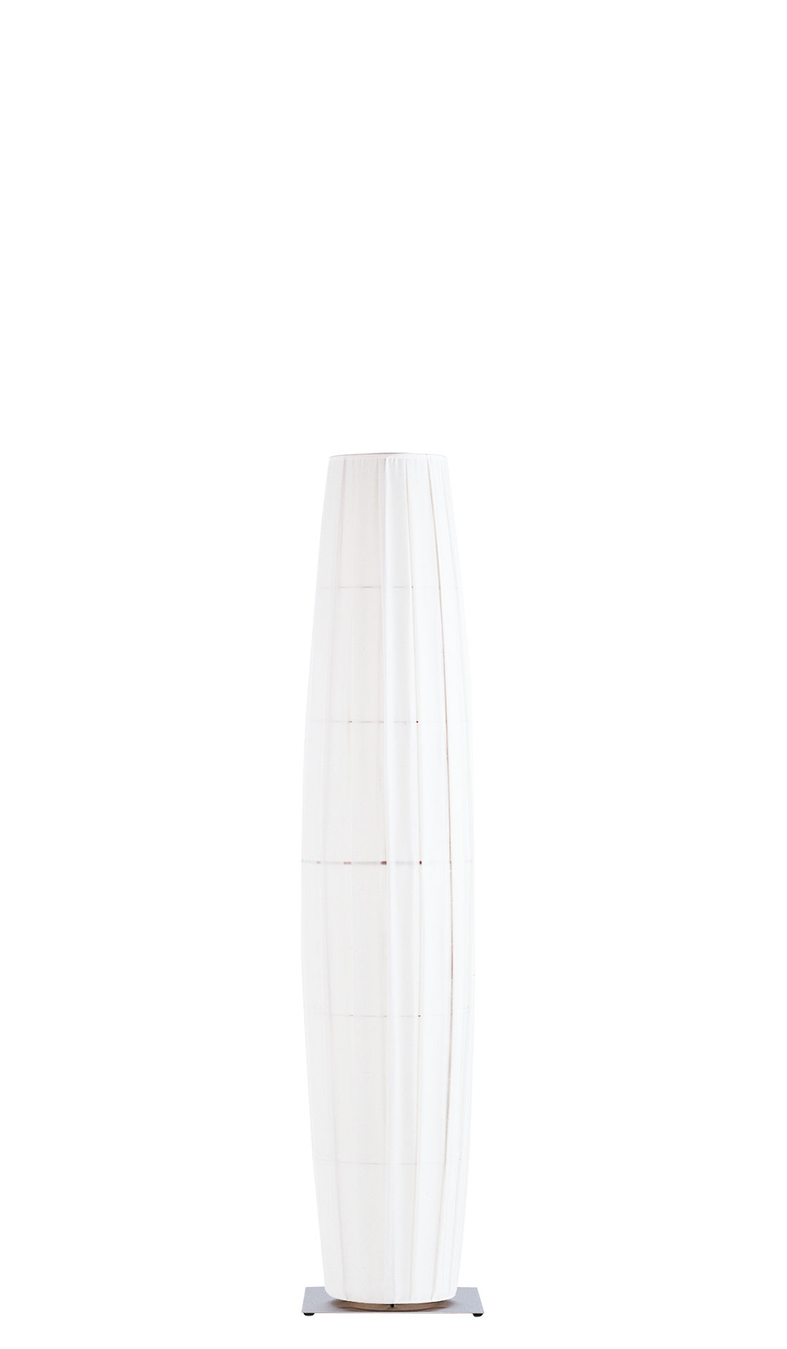 Lighting - Floor lamps - Colonne Floor lamp - H 190 cm - 3 colours LEDs by Dix Heures Dix - White/Multicolored light - Brushed stainless steel base - Brushed steel, Polyester fabric