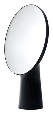 Furniture - Mirrors - Cyclope Free standing mirrors - H 46,5 cm by Moustache - Black - Terracotta