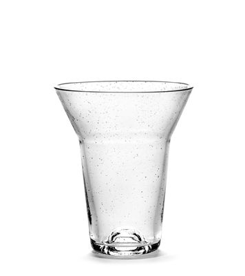 Tableware - Wine Glasses & Glassware - Medium Glass - / Ø 9 x H 11 cm by Serax - H 11 cm / Transparent - Recycled glass