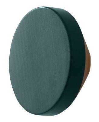 Furniture - Coat Racks & Pegs - Clou Hook - Ø 12 cm by ENOstudio - Blue - Natural beech, Painted beech
