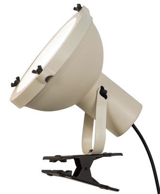 Image of Lampada a pinza Projecteur 165 - by Le Corbusier / Riedizione 1954 di Nemo - Bianco/Beige - Metallo