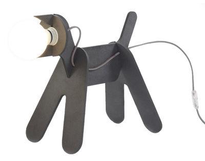 Illuminazione - Lampade da tavolo - Lampada da tavolo Get Out di ENOstudio - Grigio antracite - cavo rosso - Pannello medium tinto