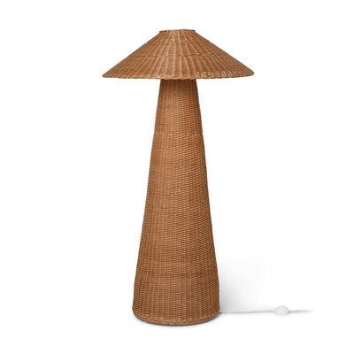 Luminaire - Lampadaires - Lampadaire Dou / Rotin tressé main - Ø 71 x H 131 cm - Ferm Living - Naturel - Rotin